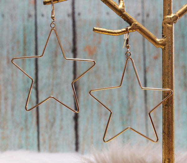 Hanging Star earrings