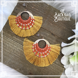Golden Flare earrings