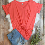 Comfy tee coral