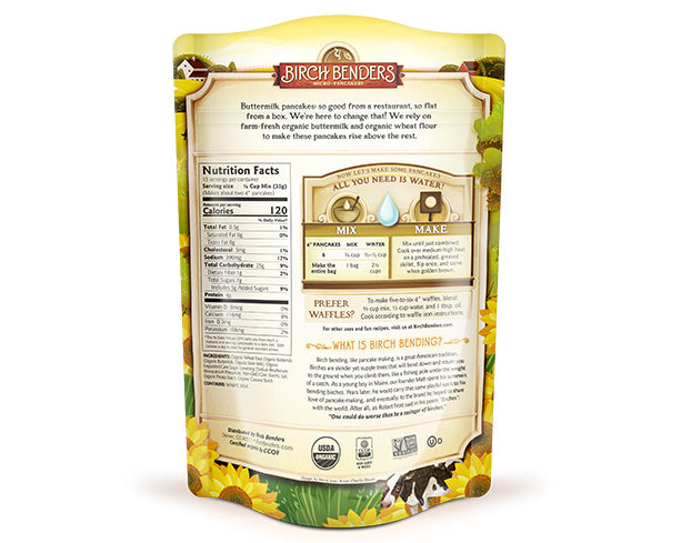 featured-Birch Benders Organic Buttermilk Pancake & Waffle Mix pouch back - have-zoom-4