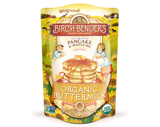 featured-Birch Benders Organic Buttermilk Pancake & Waffle Mix pouch - have-zoom-3
