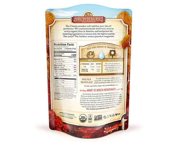 featured-Birch Benders Organic Classic Pancake & Waffle Mix pouch back - have-zoom-4