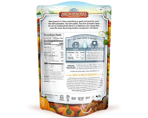 featured-Birch Benders Pumpkin Spice Paleo Pancake & Waffle Mix pouch back - have-zoom-4
