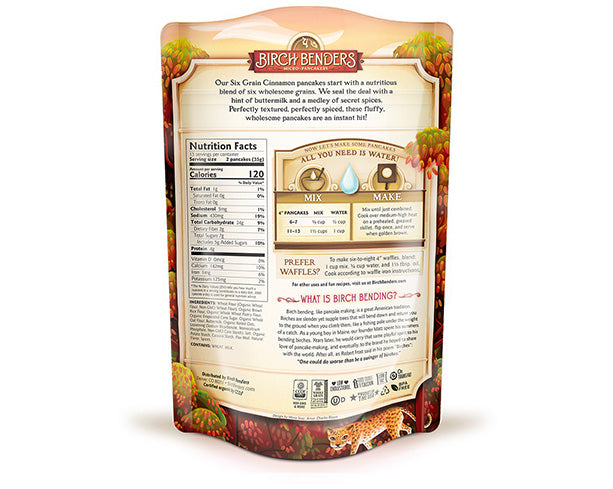 featured-Birch Benders Six Grain Cinnamon Pancake & Waffle Mix pouch back - have-zoom-4