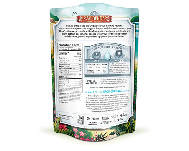featured-Birch Benders Plant Protein Pancake & Waffle Mix pouch back - have-zoom-4