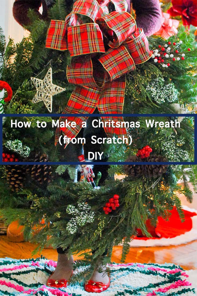 How to Make a Natural Christmas Wreath DIY (from scratch)