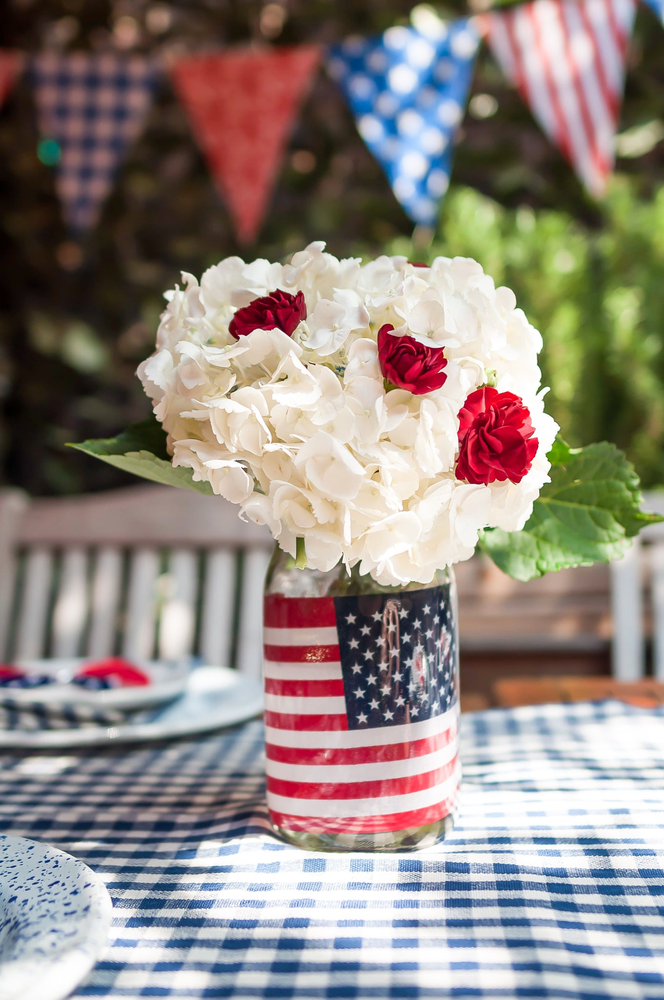 Easy DIY Centerpiece 4th of July Inspired