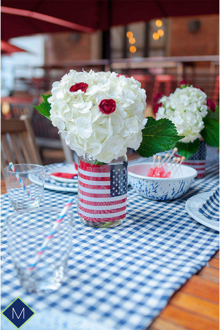 4th of July table setup