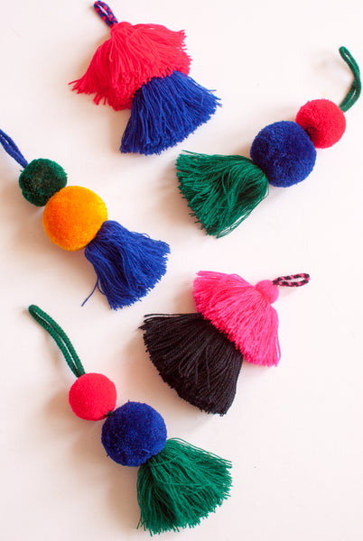 Pom poms and Tassels