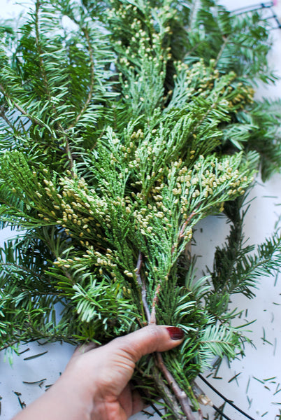 DIY Christmas Wreath from Scratch