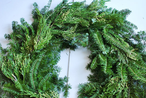 Natural Christmas Wreath DIY