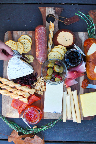 Party Cheese and Charcuterie Board DIY