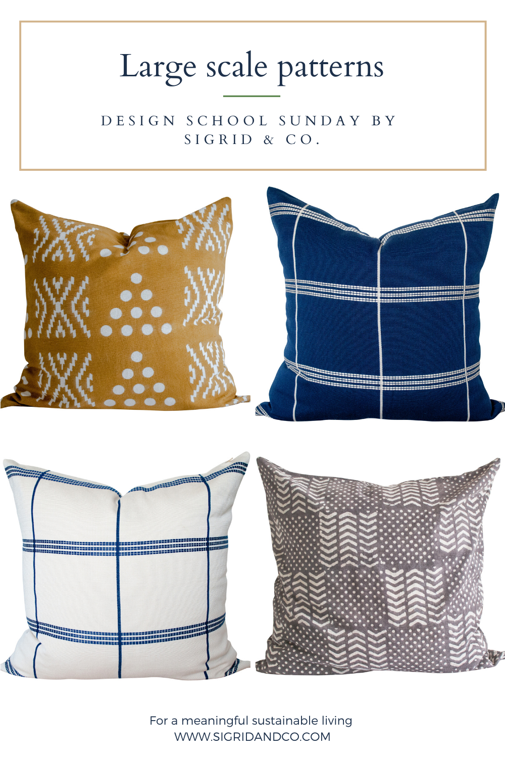 How to Mx and Match your Pillows like a Designer