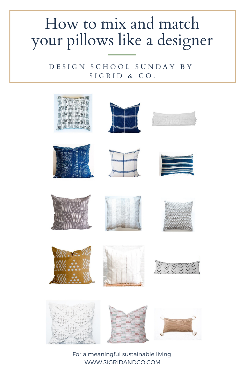 How to Mix and Match your Pillows like a Designer