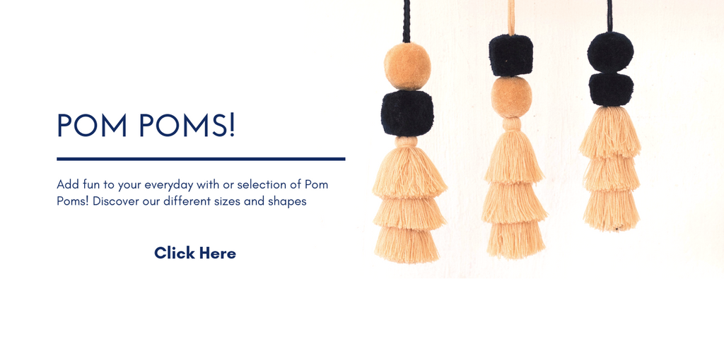 Pom poms home decor and bag accessory