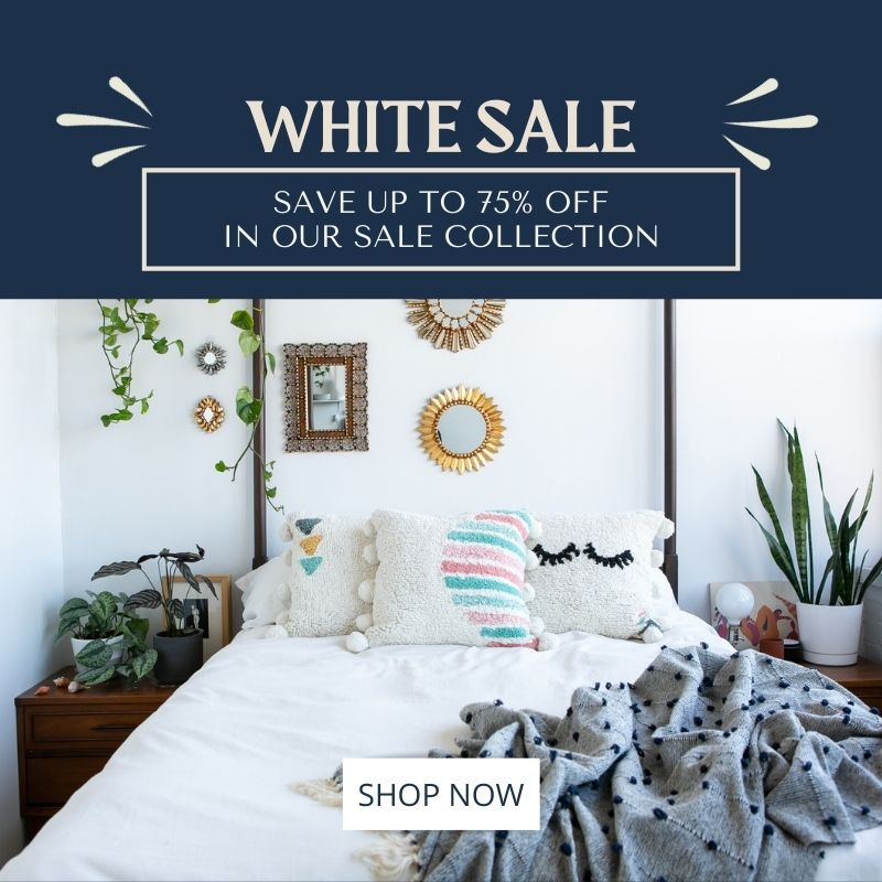White Sale Save up to 75% Off