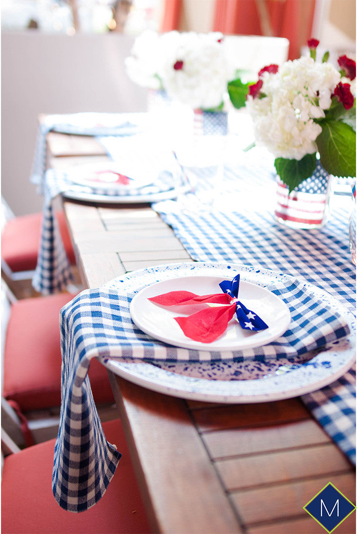 Gingham Napkins and Table Runner