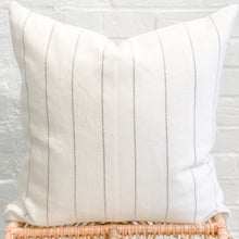 Load image into Gallery viewer, Dhalia Striped Throw Pillow in Camel
