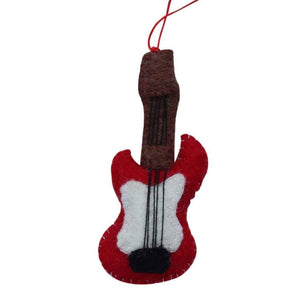 Guitar Felt Ornament - Global Groove (H)