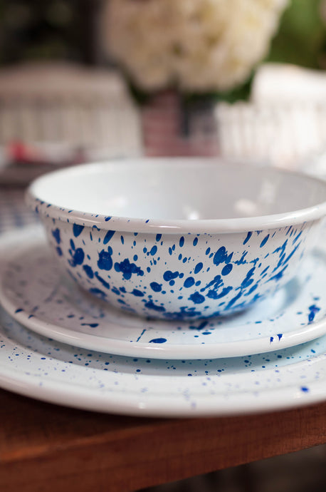 Splash Painted Full Tableware Set 30 pieces in Blue