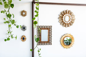 Set of four mini decorative mirrors