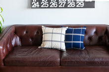 Load image into Gallery viewer, blue decorative throw pillow