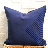 Aztec Accent Throw Pillow in Navy Blue