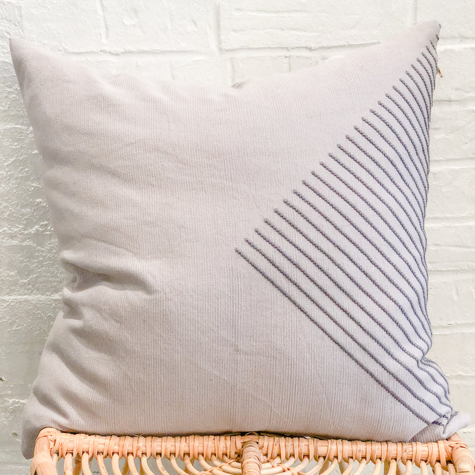 Aztec Accent Throw Pillow in Gray