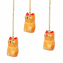 Load image into Gallery viewer, Handpainted Ornament Cat Figurine - Pack of 3