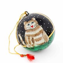 Load image into Gallery viewer, Handpainted Ornament Cat - Pack of 3