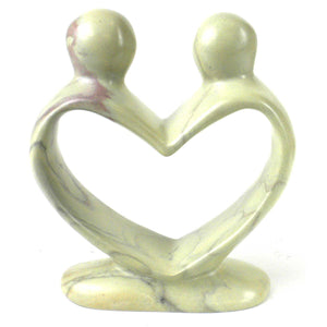 Soapstone Lovers Heart Natural - 6 Inch
