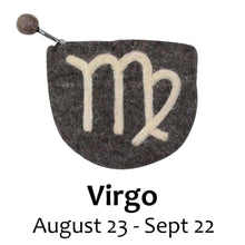 Load image into Gallery viewer, Felt Virgo Zodiac Coin Purse - Global Groove