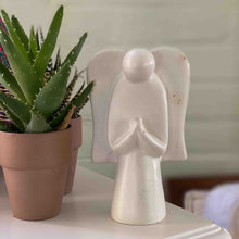 Load image into Gallery viewer, Soapstone Angel Sculpture, Natural Stone