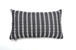 black and white tribal accent pillow handmade in Guatemala