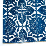 Floral blue pattern small area rug