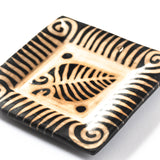 black and cream ceramic accent tray handmade by Lenca artisans in Honduras