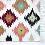 small kilim accent rug in neutrals