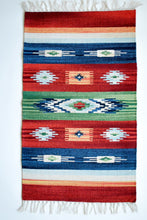 Load image into Gallery viewer, Multicolor Kilim Rug with Nomad Motifs Red Green and Blue