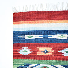 Load image into Gallery viewer, small multi color kilim rug