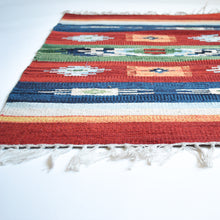 Load image into Gallery viewer, multi color small kilim rug