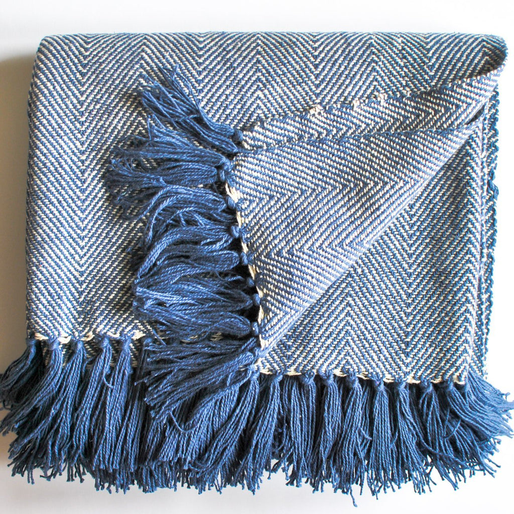 Navy Blue Throw Blanket Meraki Home Accents