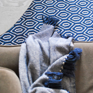 Meraki Home Accents Navy Blue Throw Blanket