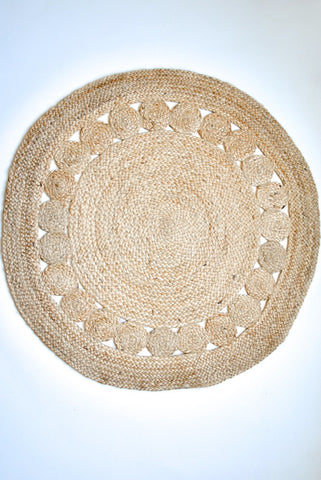 Natural Jute Rug with Motifs
