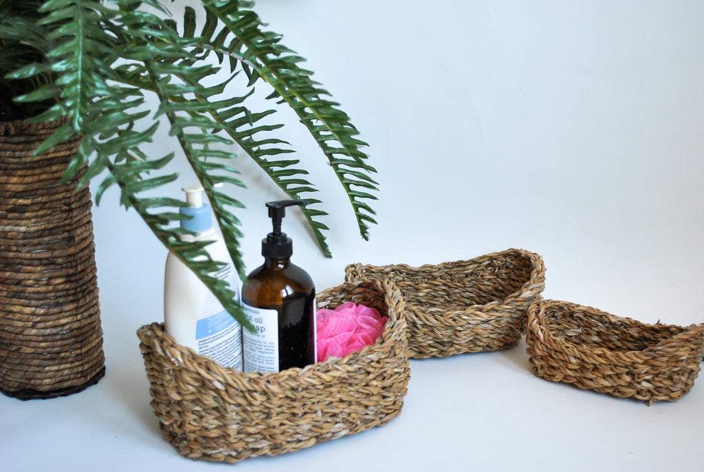 Small Seagrass Baskets set of three