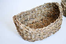 Load image into Gallery viewer, Small Seagrass Baskets set of three