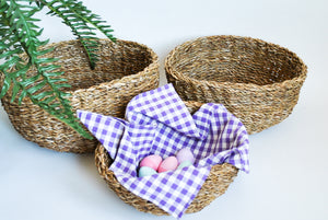 Round Roll Baskets set of Three