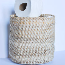Load image into Gallery viewer, small natural storage baskets made in kenya