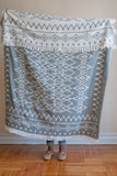Global Throw blanket in Charcoal and Beige