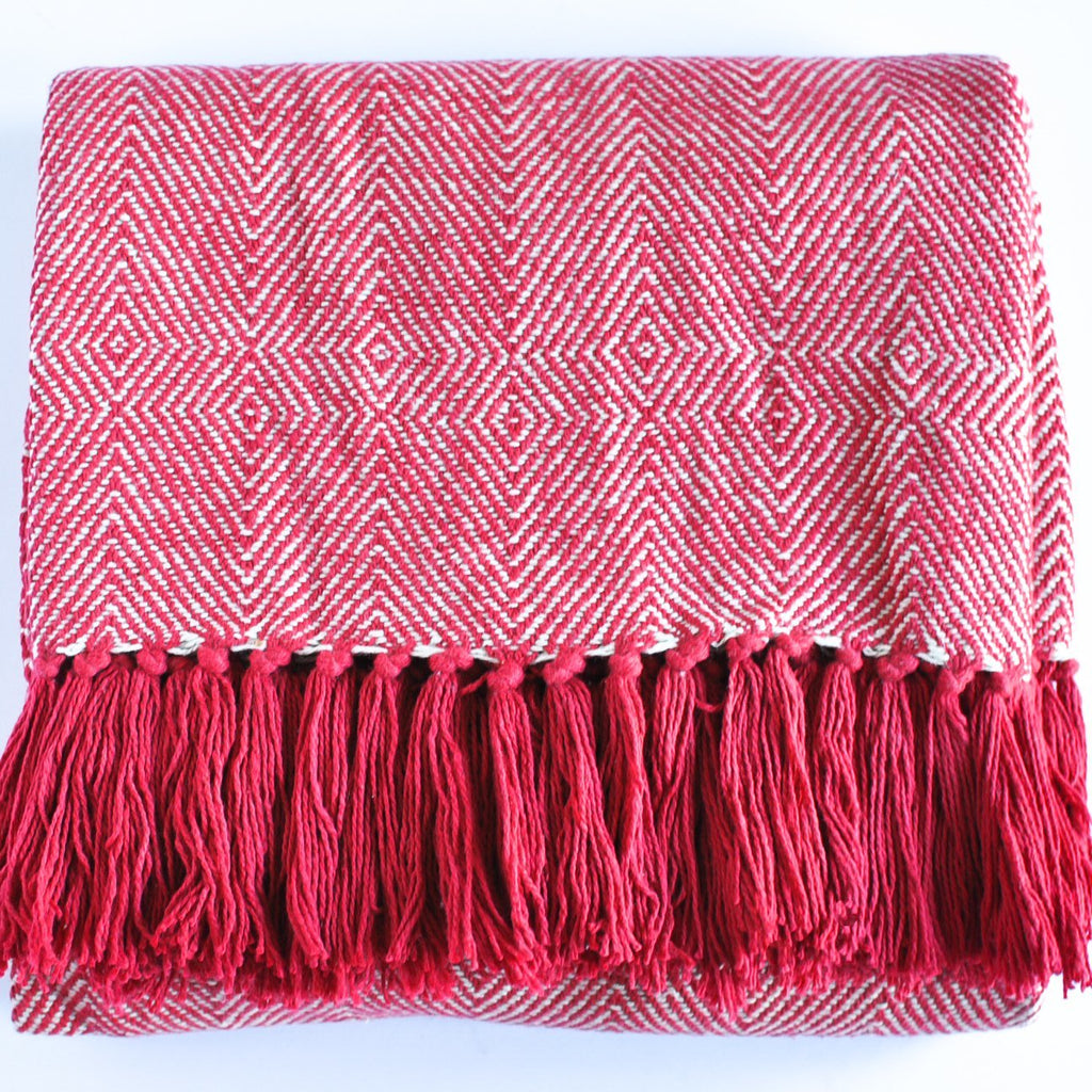 Red Accent Throw