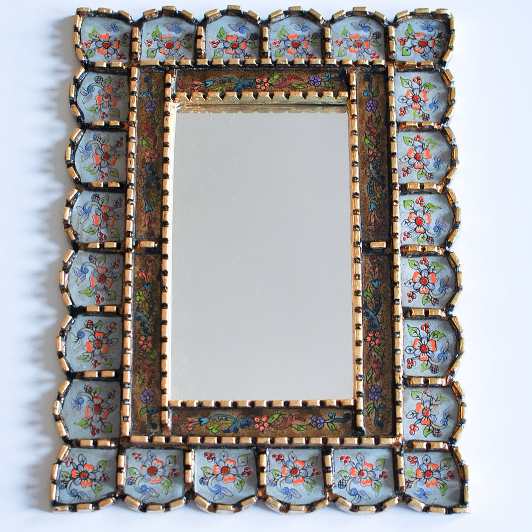 Rectangular Peruvian Accent Mirror